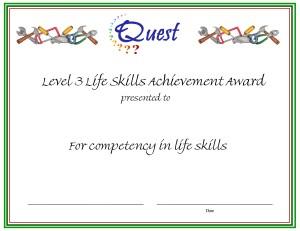 Level 3 Life Skills